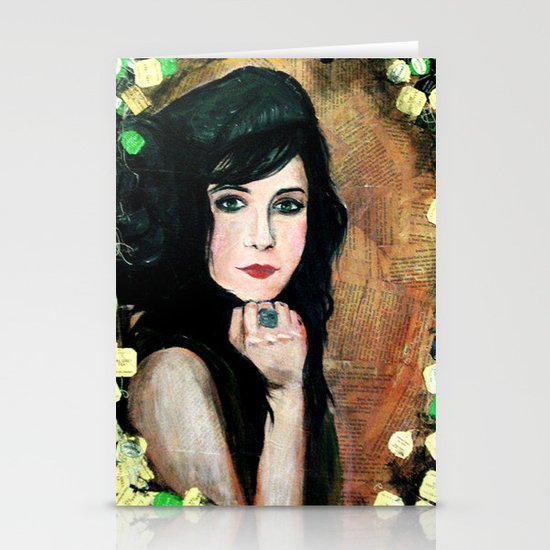Green Lady Stationery Cards