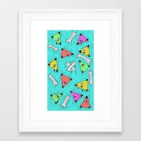 triangle Framed Art Prints featuring Triangle by Jimmy Kid