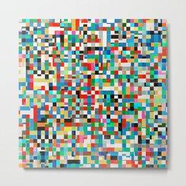 Messy Mosaic Metal Print