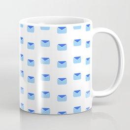 Envelope and mail 2- blue Coffee Mug