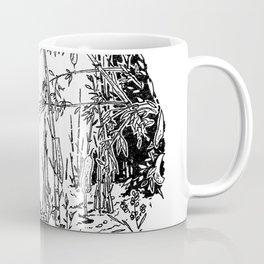 Sitting by the Bamboos Coffee Mug
