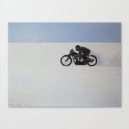 Brough Superior on the Salt Canvas Print