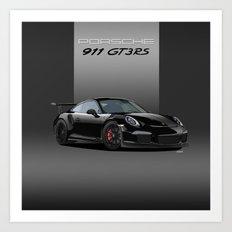 Porsche 911 GT3 RS in Black Art Print