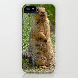Cute screaming gopher iPhone Case
