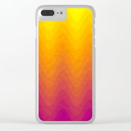 Pink and Yellow Ombre - Waves Clear iPhone Case