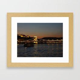 Chain Bridge Framed Art Print