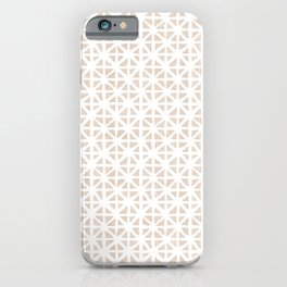 Carved Grid in Tan iPhone Case