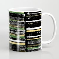 mid century modern Mugs featuring Mid-Century Modern - press print and digital pattern by Sarah Bagshaw