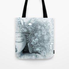 Fade to White Budda Tote Bag