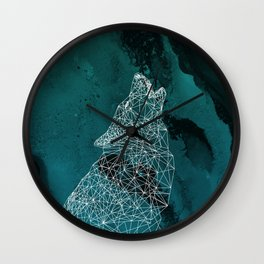 Midnight Wolfie II Wall Clock