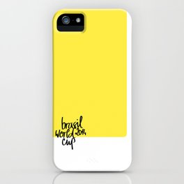 Brazil World Cup 2014 - Poster n°3 iPhone Case