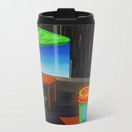 Hot Coffee on a Dreary Day Metal Travel Mug