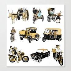 Indian Transportation Canvas Print