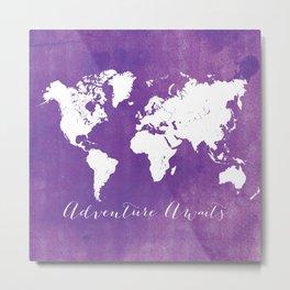 Purple Adventure Awaits Metal Print