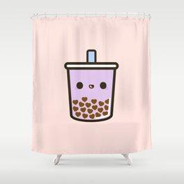 Cute Love Heart Bubble Tea Shower Curtain