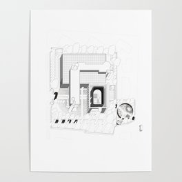 Post Industrial Landscape / Architectural Axonometric Poster