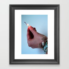 no fear Framed Art Print