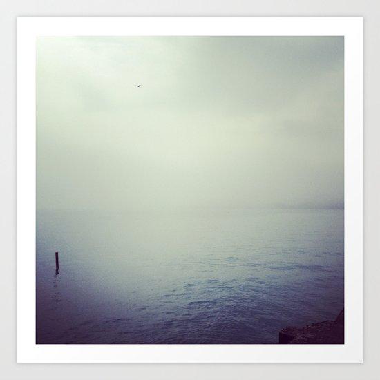 Lake Michigan Fog Art Print