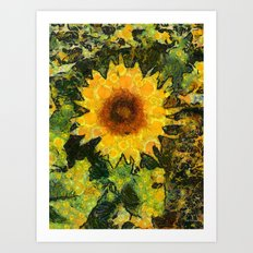 you can't have enought sunflowers Art Print