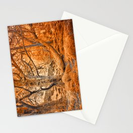 Glowing Amber Forest Stationery Cards