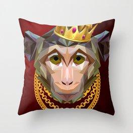 The King of Monkeys Throw Pillow