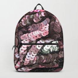 Pink Silver Black Sequin Backpack
