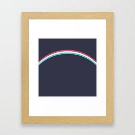 Italo Retro Rainbow Framed Art Print