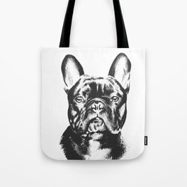 Black And White French Bulldog Sketch Tote Bag