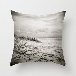 { sand, surf, sun } Throw Pillow