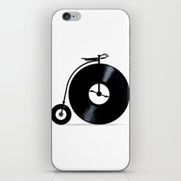 Penny Farthing With Vinyl Records iPhone Skin