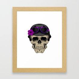 Skull Biker Mom product Motorcyle Riding Gift For Womens Framed Art Print