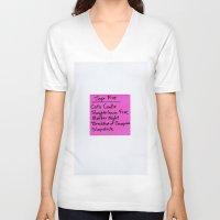 vonnegut V-neck T-shirts featuring TOP FIVE Kurt Vonnegut Novels by Jeremiah Wilson