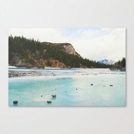 Frozen Bow Falls Canvas Print