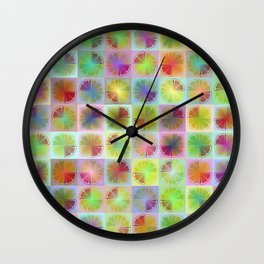 Four citrus fruits pattern Wall Clock