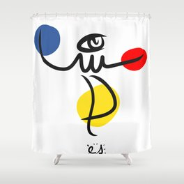 The Juggler of Life Minimal Art Design Shower Curtain