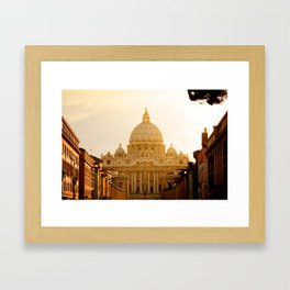 St. Peter's Basilica at sunset. Framed Art Print