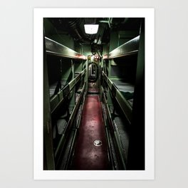 Radioactive dream submarine Art Print