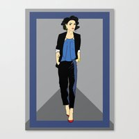 tintin Canvas Prints featuring Ms Haddock by InkandSquid