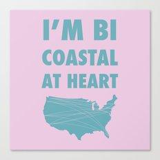 Bicoastal At Heart Canvas Print