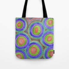 Spreading Love Circle Pattern Tote Bag