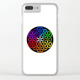 Secret flower of life Clear iPhone Case