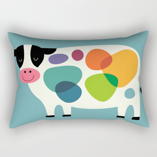 Awesome Cow Rectangular Pillow