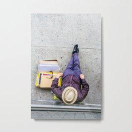 Purple Pants Metal Print