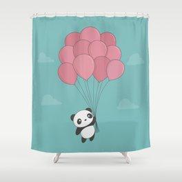 Kawaii Panda In The Sky Shower Curtain