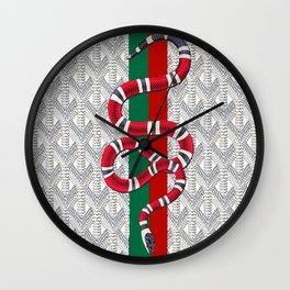 Goyard White Guci Wall Clock