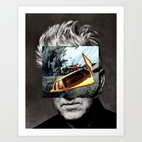 david lynch Art Prints featuring david-lynch by Pato (aka, duck)