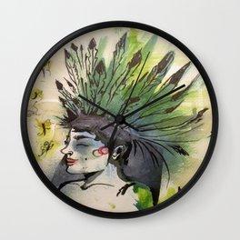 Golden Laughter Wall Clock
