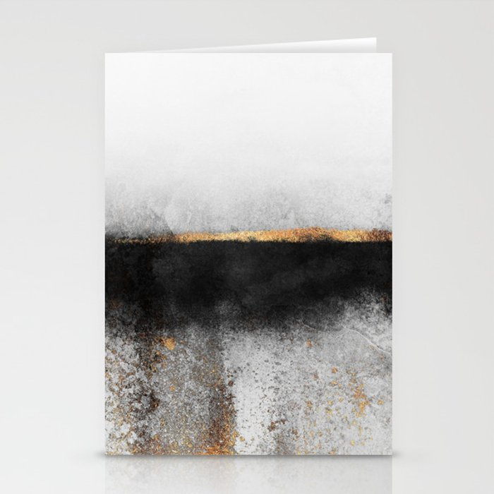 Soot And Gold Stationery Cards