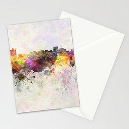 Birmingham AL skyline in watercolor background Stationery Cards