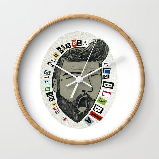 Bla bla bla... Wall Clock